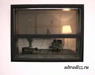 закрытый балкон в виде обычного окна