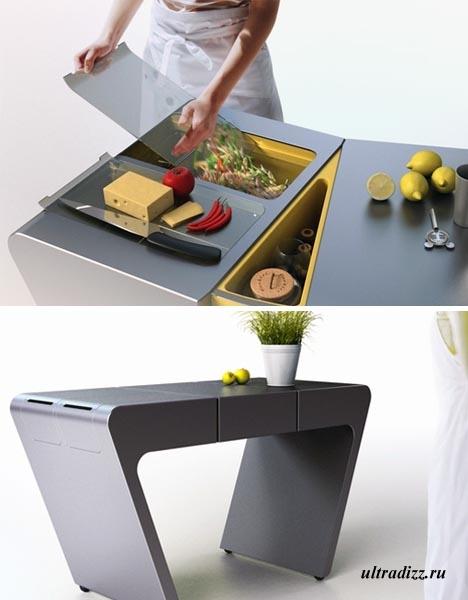 Раздвижной рабочий кухонный стол