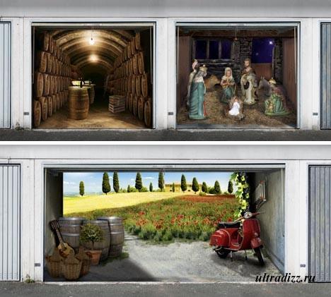Оригинальные 3-D постеры для гаража