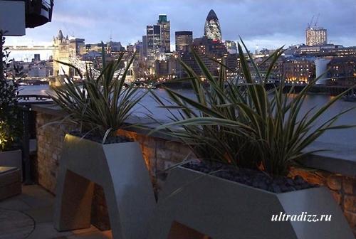 Терраса на крыше: загородный ландшафт в мегаполисе