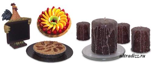 дизайн свечей в виде выпечки