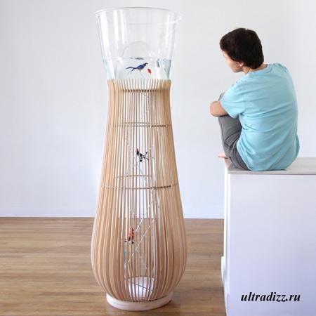 необычный дизайн птичьей клетки