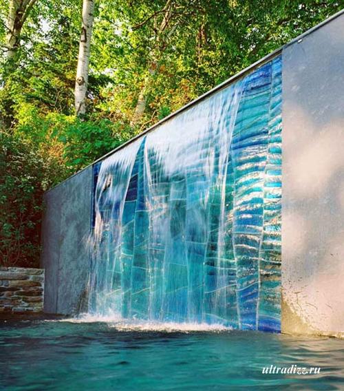 стекло в современном ландшафтном дизайне