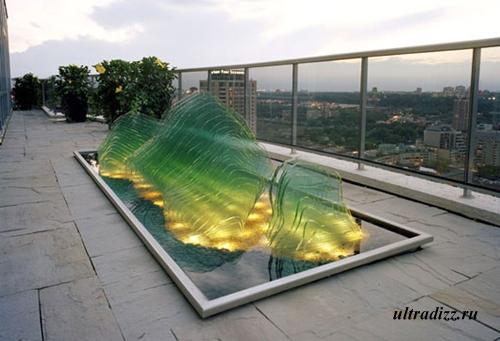 подсветка стеклянных скульптур