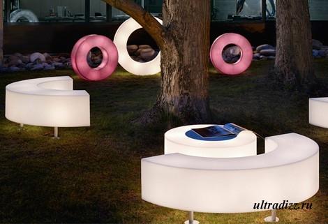 мебель в ландшафтном дизайне загородного дома