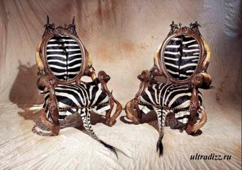 кресла из шкуры зебры
