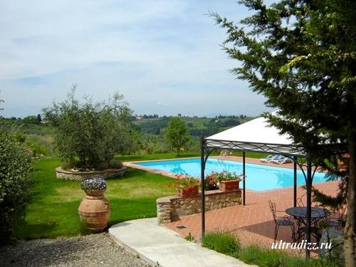 дом в тосканском стиле с бассейном