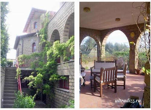 тосканский дом с террасой