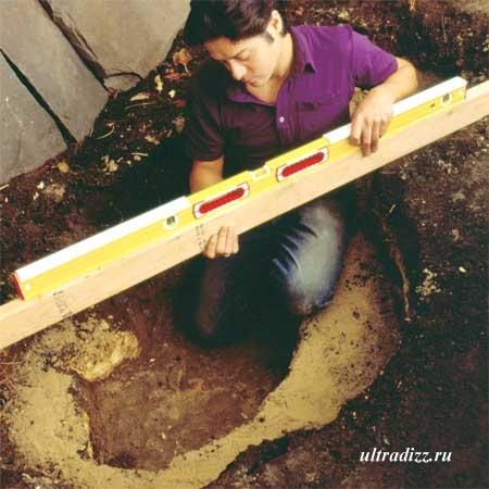 строительство пруда проверка уровня