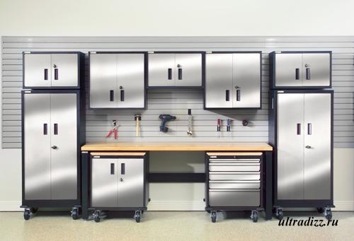 комплект мебели для интерьера гаража