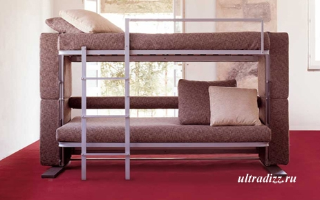 диван трансформер с двумя кроватями