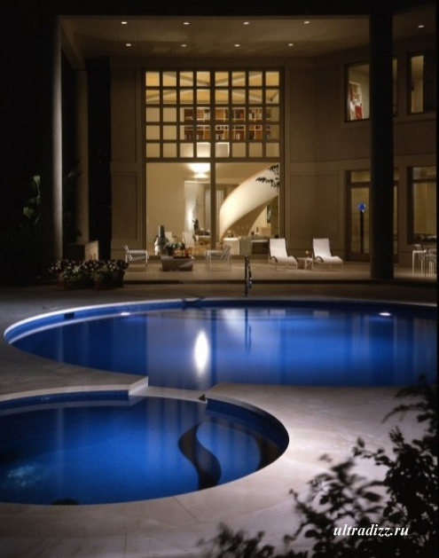 каскад бассейнов в частном доме