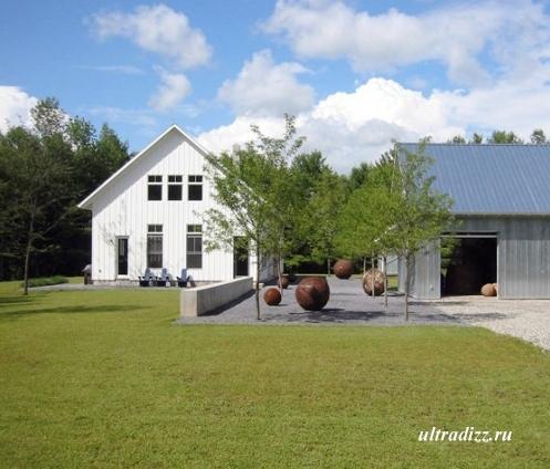 дизайн современного частного двора