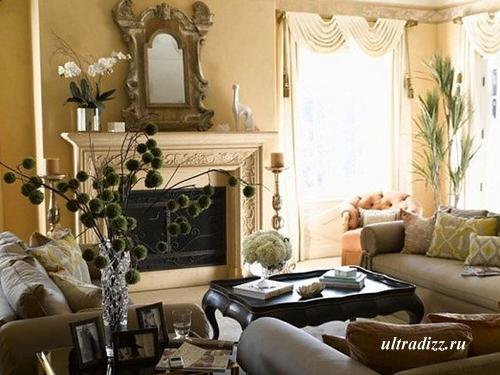 растения в романтическом интерьере