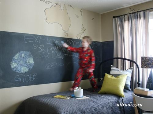 панель для рисования в детской