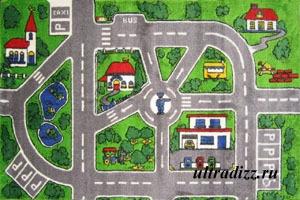 ковер со схемой города