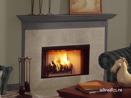 газовый камин с имитацией дров