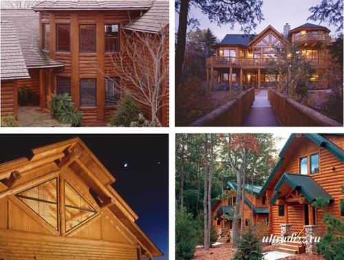 деревянные бревенчатые и брусовые дома