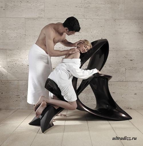 современный дизайн массажного кресла