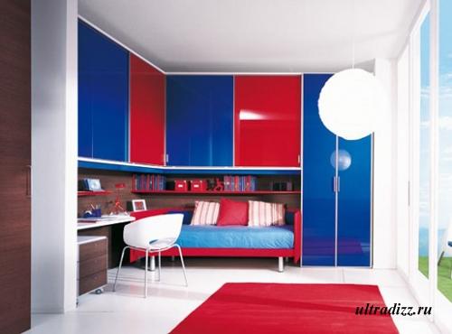 контрастные фасады мебели для детской