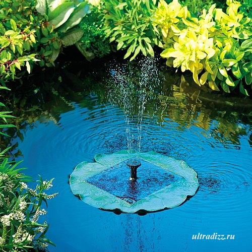фонтан со встроенными фотоэлементами