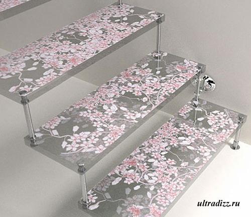 декоративная стеклянная лестница