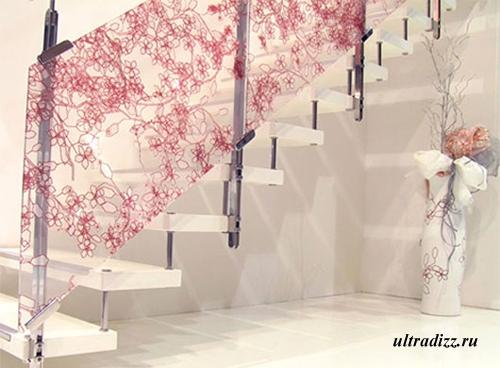 декоративное ограждение стеклянных лестниц