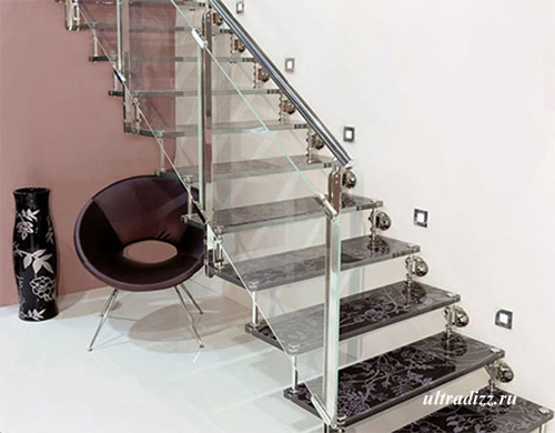 лестница стеклянная декоративная