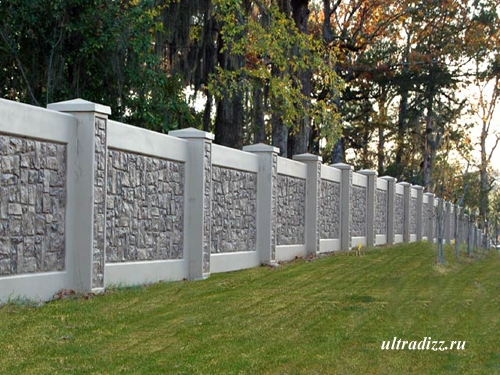 бетонный забор 1