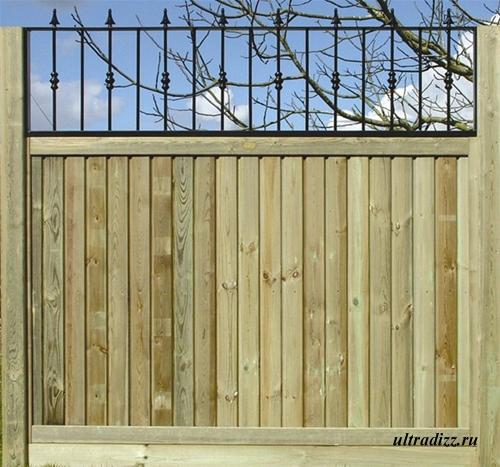 комбинированный забор 1