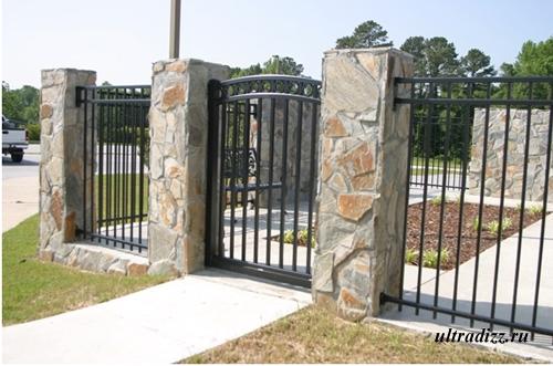 комбинированный забор 2