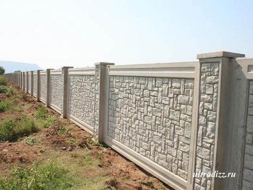 бетонный забор3