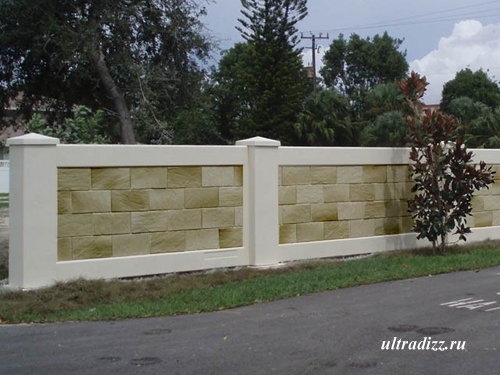 бетонный забор7