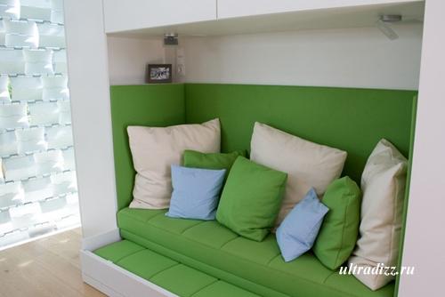 интерьер спальни энергосберегающего дома