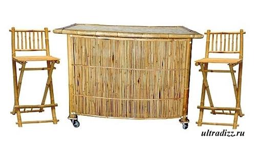 мини бар из бамбука