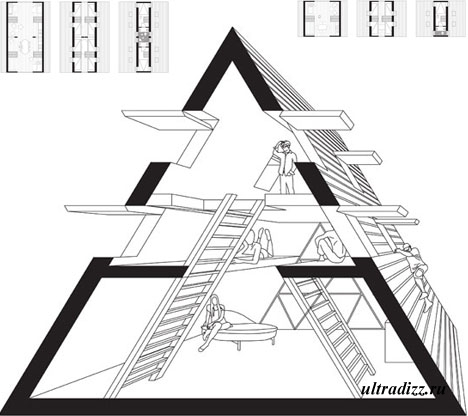 схема дома пирамиды