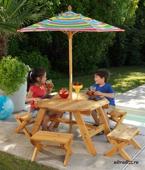 мебель для детской площадки с тентом