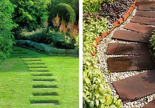 современный дизайн садовых дорожек