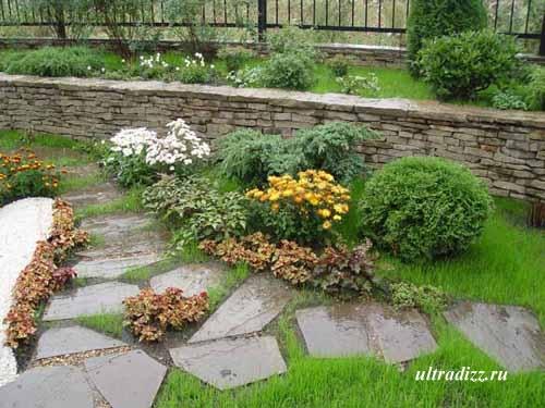 дизайн садовой тропинки