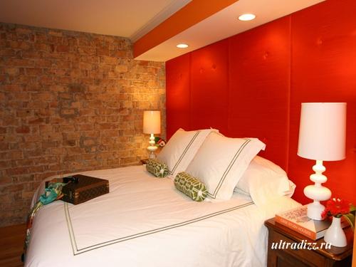 спальня в красном стиле