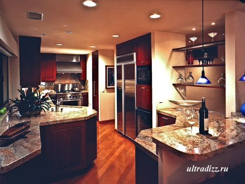 мебель для нестандартного интерьера кухни