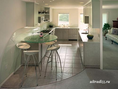 мебель на заказ для проходной кухни