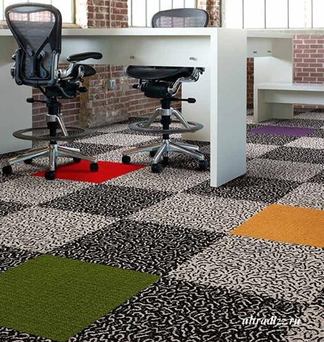 покрытие из ковровой плитки