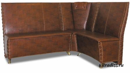кожаный угловой кухонный диван