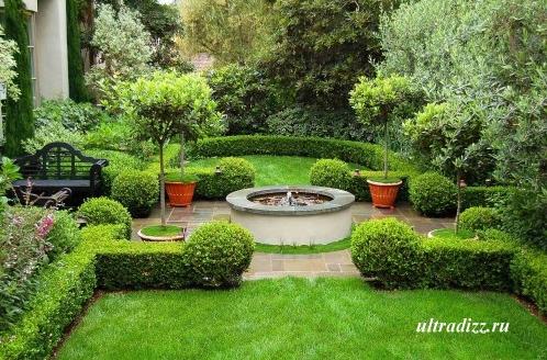 ландшафтный фонтан в загородном доме