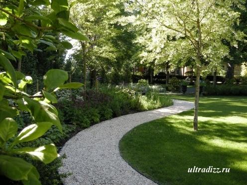 гравий в садовом дизайне