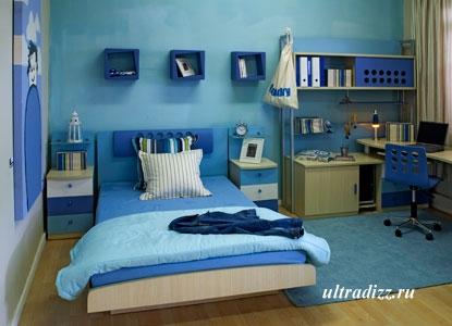 морской дизайн в комнате подростка