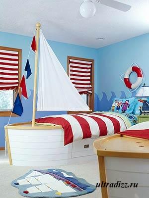 детская с темой парусных кораблей