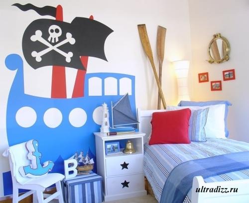 пиратский дизайн детской