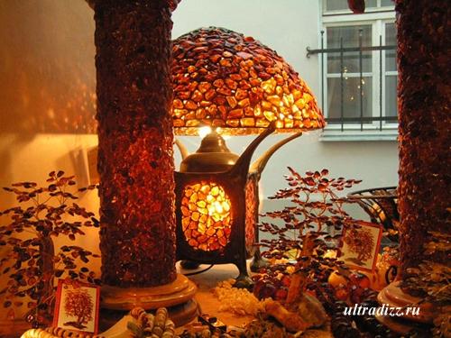 лампа с натуральным камнем